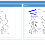compare the marked images